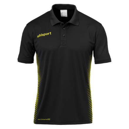 Score Polo Shirt Black / Fluo Yellow